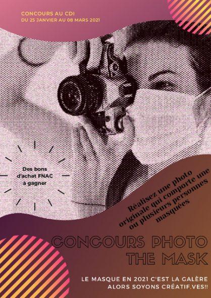 """Concours de photo au CDI """"The Mask"""" 2020-2021"""