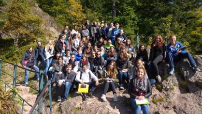 Inauguration de la sortie de géologie par les élèves de TS, spécialité S.V.T.
