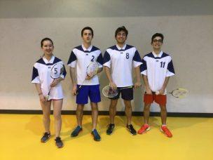 Fin de parcours des 3 équipes du lycée Poincaré en badminton