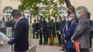 Assassinat de Samuel Paty, commémoration émouvante au lycée Henri-Poincaré