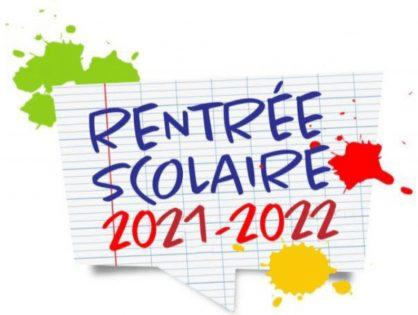 Calendrier de la rentrée des élèves 2021-2022